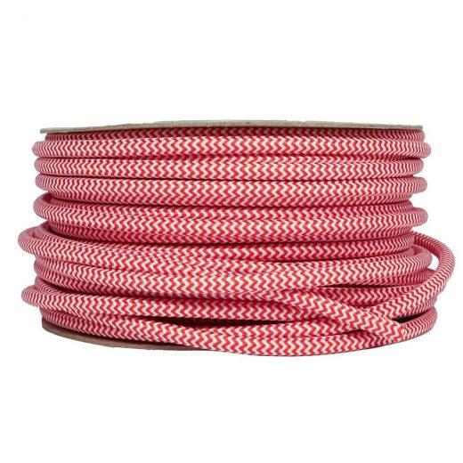 Kábel-dvojžilový-v-podobe-textilnej-šnúry-so-vzorom-v-červenej-farbe-2-x-0.75mm-1-meter