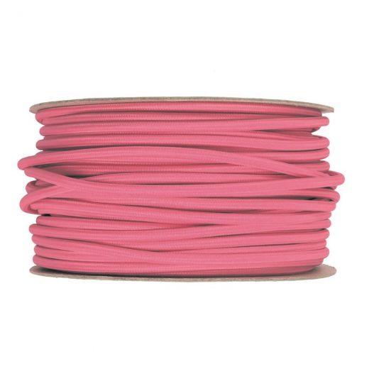 Kábel-dvojžilový-v-podobe-textilnej-šnúry-v-ružovej-farbe-2-x-0.75mm-1-meter
