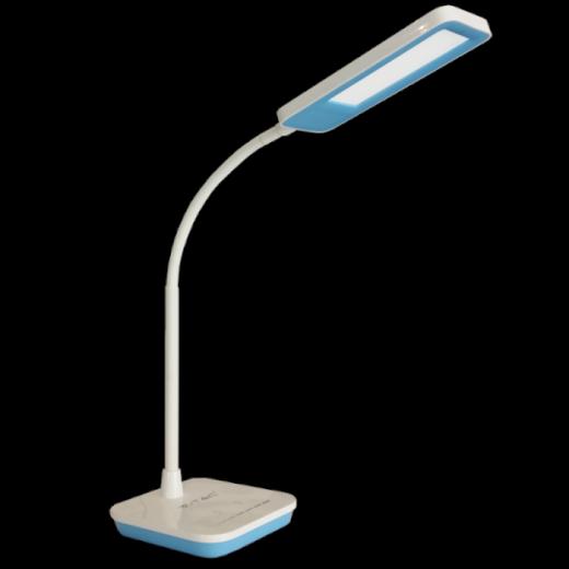 LED Stolová lampa, 7W, Stmievateľná, Modrá, V-TAC