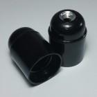 Lakovaná-bakelitová-objímka-E26-•-čierna-2