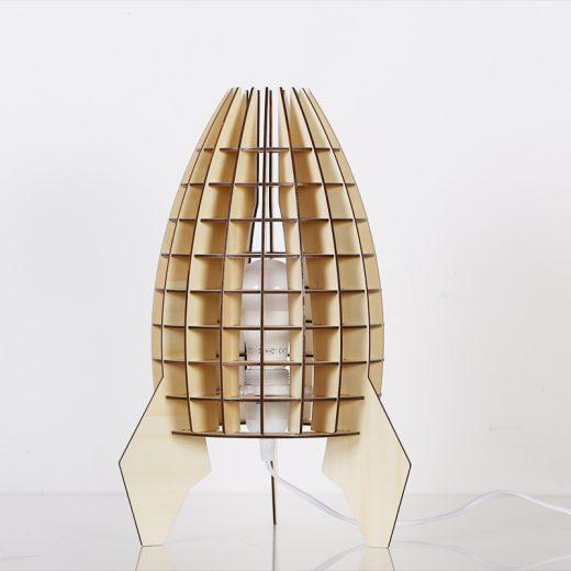 Originálne stolové drevené svietidlo z kolekcie iWood - VAZE4