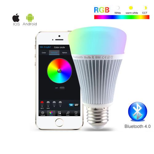 7e325f4fe RGB LED žiarovka s efektami, 8W, 550lm. Intenzitu svetla,