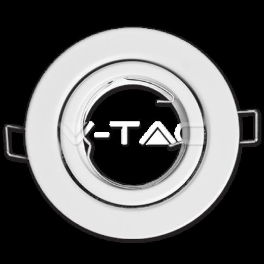 Rámik okrúhly výklopný biely, V-TAC