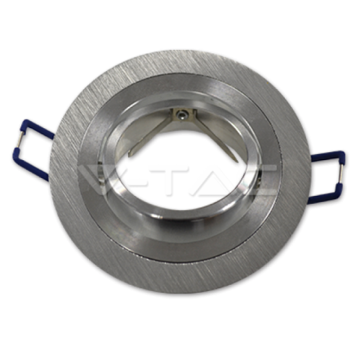 Rámik okrúhly výklopný - brúsený hliník, V-TAC