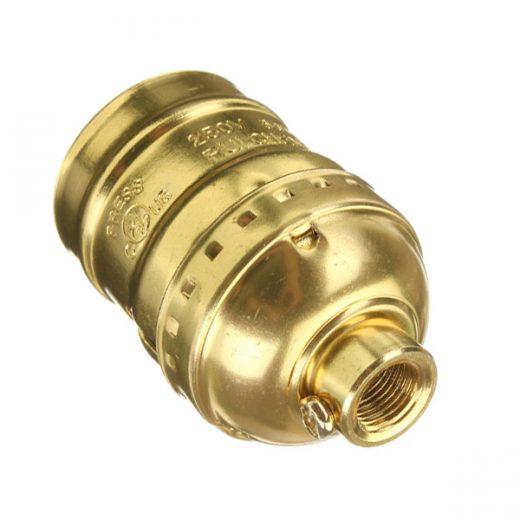 Retro-objímka-E27-•-hliník-•-zlatá