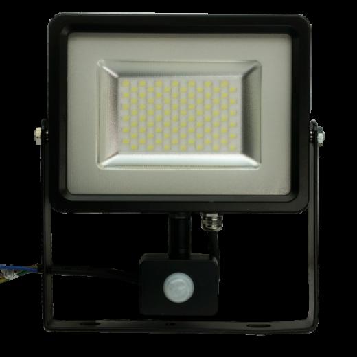 LED reflektor so senzorom - 30W Premium, 2400lm, Studená biela
