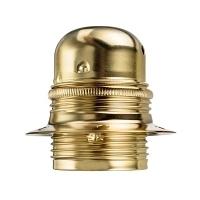 Masívna dekoračná objímka E27 • s okrasnou skrutkou • kov • zlatá
