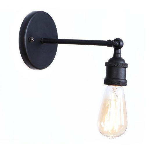Historické nástenné svietidlo na žiarovky typu E27 v čiernej farbe (5)