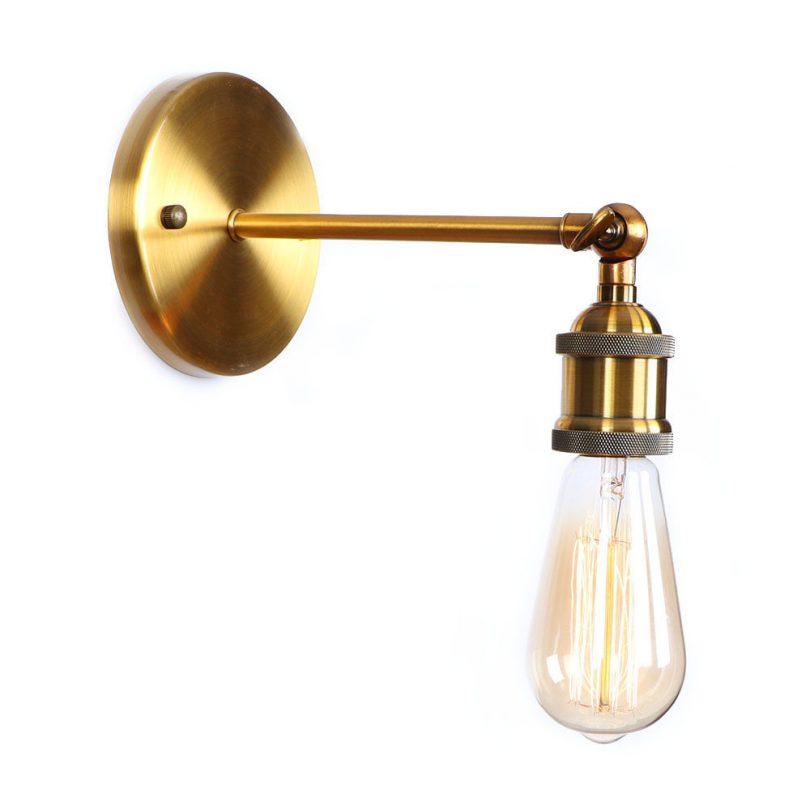 Historické nástenné svietidlo na žiarovky typu E27 v bronzovej farbe (2)