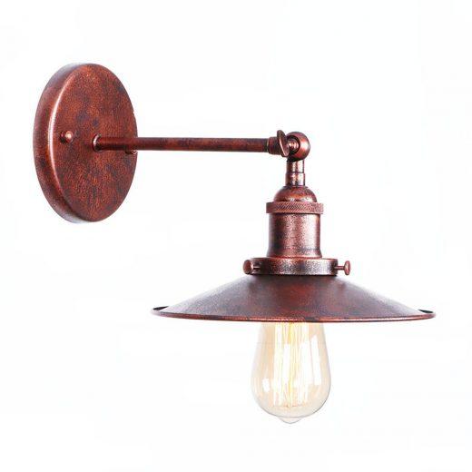 Historické nástenné svietidlo s tienidlom v medenej farbe (2)