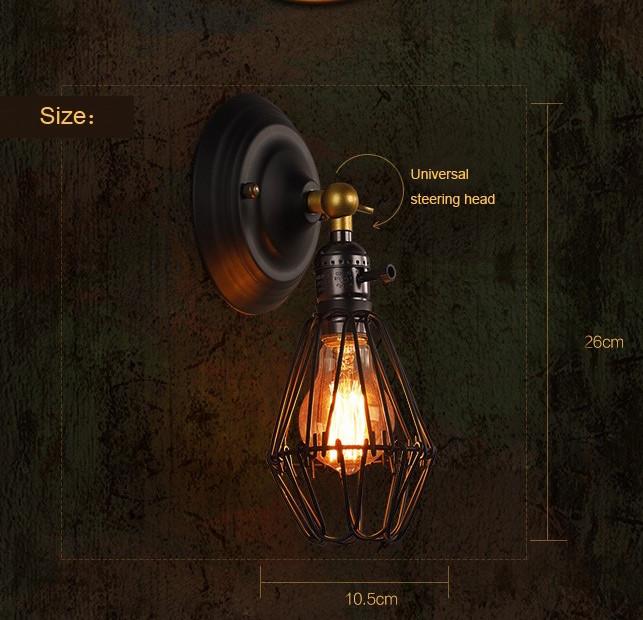 Historické nastaviteľné nástenné svietidlo s klietkou vo farbách1
