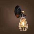Historické nastaviteľné nástenné svietidlo s klietkou vo farbách6