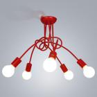 Moderné kreatívne závesné svietidlo s piatimi päticami vo farbách5
