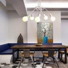 Moderné kreatívne závesné svietidlo s piatimi päticami vo farbách6
