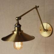 Historická nástenná lampa Alton v zlatej farbe (1)