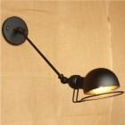 Historická nástenná lampa Masel v čiernej farbe (1)