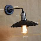 Historické nástenné svietidlo Iron s dekoračným tienidlom (1)