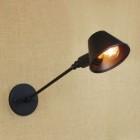 Retro nástenná lampa Tedy v čiernej farbe (1)