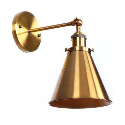 Retro nástenné svietidlo Home v bronzovej farbe je nástenné svietidlo v historickom štýle. Tento štýl sa bežne používal v továrniach a historických miestnostiach