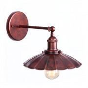 Retro nástenné svietidlo Rustic v staro medenej farbe (5)