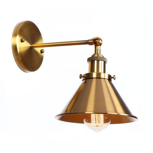Retro nástenné svietidlo Wrount v bronzovej farbe (1)