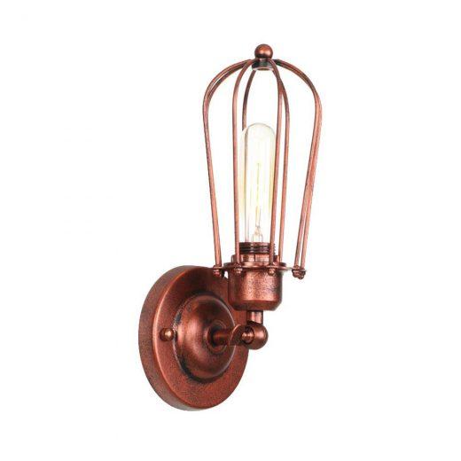 Retro nástenné svietidlo Pared v staro medenej farbe