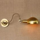Starodávna nástenná lampa Bar v zlatej farbe (3)