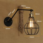 Starodávna nástenná lampa Evening s klietkou (1)