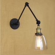Starodávna nástenná lampa Harlin so skleneným tienidlom (1)