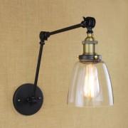 Starodávna nástenná lampa Harlin so skleneným tienidlom (2)