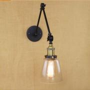 Starodávna nástenná lampa Harlin so skleneným tienidlom (5)