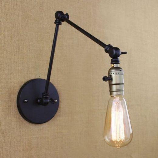 Starodávna nástenná lampa Simple  (6)