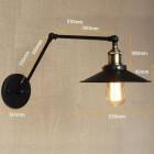 Starodávna nástenná lampa Somer s čierym tienidlom (2)