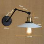 Starodávna nástenná lampa Somer s bielym tienidlom (2)