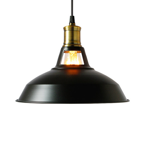 Historické závesné svietidlo Country Medium v čiernej farbe (1)