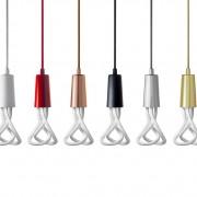 Závesné štýlové svietidlo Plumen DropCap, chrómová farba2