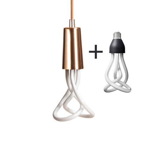 Závesné štýlové svietidlo Plumen DropCap, medená farba + Plumen 001 žiarovka