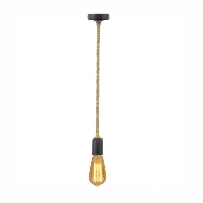 Závesné lanové svietidlo v retro štýle (1)