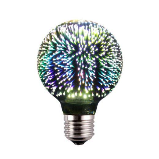 3D FIREWORKS, LED Dekoratívna žiarovka - Shines, E27, 5W, 100lm