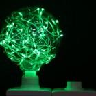 Dekoračná LED žiarovka EDISON, E27, 150lm, Globus, Zelená (1)
