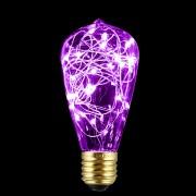 Dekoračná LED žiarovka EDISON, E27, 150lm, Teardrop, Ružová
