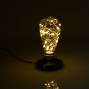 Dekoračná LED žiarovka EDISON, E27, 150lm, Teardrop, Teplá biela (2)