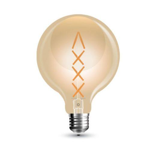 FILAMENT žiarovka - Spiral Sphere - E27, 8W, 800lm, Teplá biela