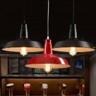 Moderné závesné svietidlo v červenej farbe (1)