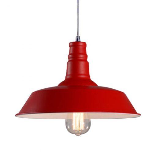 Moderné závesné svietidlo v červenej farbe (2)