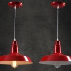 Moderné závesné svietidlo v červenej farbe (3)