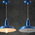 Moderné závesné svietidlo v modrej farbe (2)