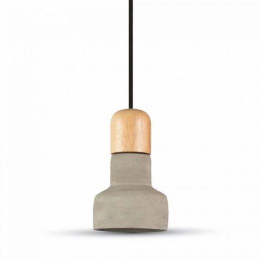 Betónové závesné svietidlo Wood v šedej farbe