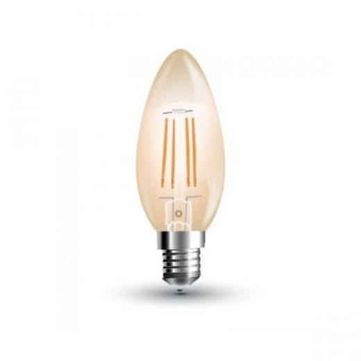 FILAMENT žiarovka - CANDLE- je žiarovka z retro kolekcie FILAMENT