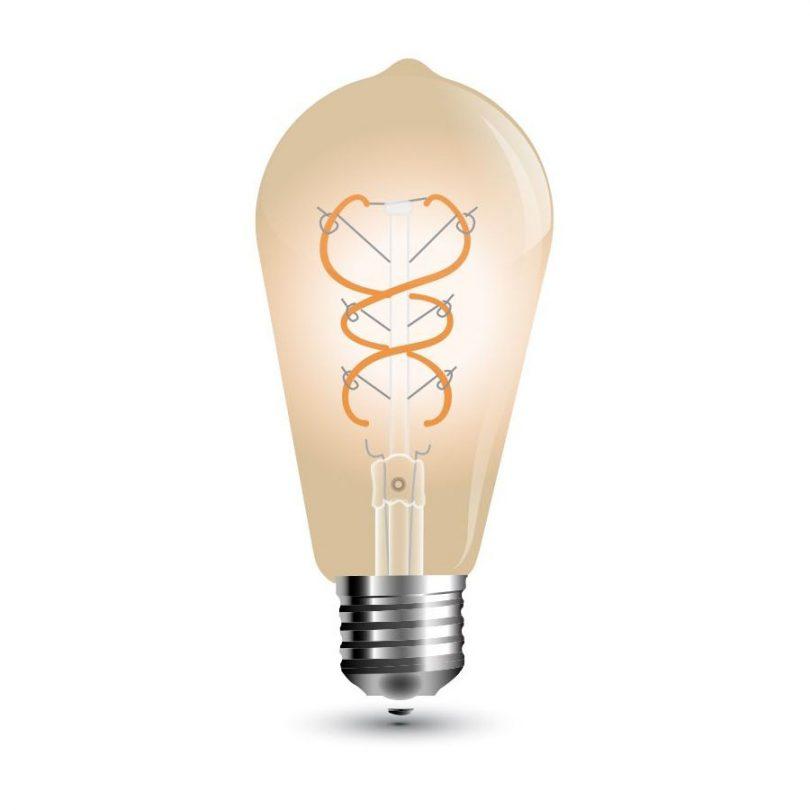 FILAMENT žiarovka - Curve Teardrop - E27, 5W, 300lm, Teplá biela
